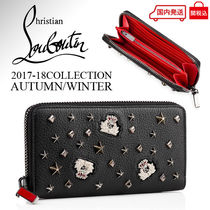 Christian Louboutin Other Check Patterns Unisex Calfskin Long Wallets