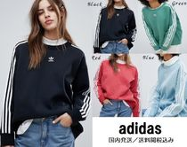 adidas Crew Neck Casual Style Street Style Long Sleeves Plain