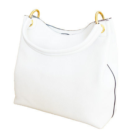 PRADA Totes White Embossed Logo Vitello Daino Leather Tote Bag 4