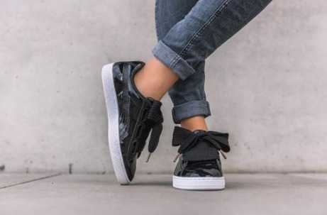 shop puma basket heart