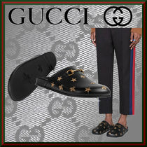 GUCCI Star Other Animal Patterns Leather Oxfords