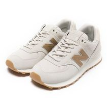 New Balance 574 Rubber Sole Casual Style Street Style Plain Leather