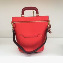 Anya Hindmarch Casual Style 2WAY Plain Leather Shoulder Bags