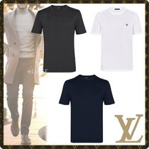 Louis Vuitton Crew Neck Blended Fabrics Street Style Cotton Short Sleeves