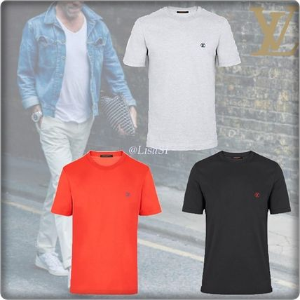 Louis Vuitton Crew Neck Crew Neck Blended Fabrics Street Style Plain Cotton