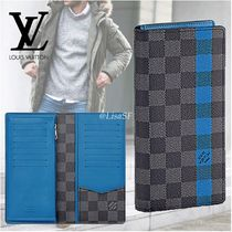 Louis Vuitton BRAZZA Other Check Patterns Cambus Blended Fabrics Bi-color