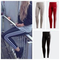 adidas Stripes Casual Style Street Style Plain Cotton Long