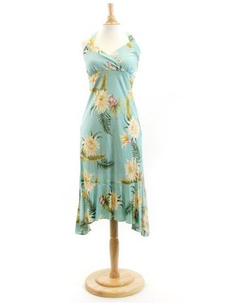 Flower Patterns Tropical Patterns Sleeveless Flared
