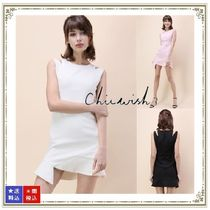 Chicwish Crew Neck Short Tight Sleeveless Plain Dresses