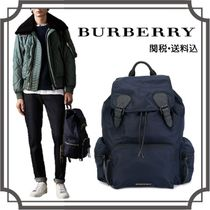 Burberry Unisex Nylon Street Style A4 2WAY Plain Backpacks