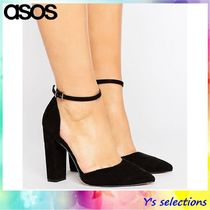 ASOS Round Toe Suede Plain Office Style High Heel Pumps & Mules
