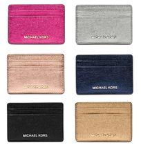 Michael Kors Plain Leather Card Holders