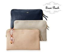 marc AND graham Unisex Plain Leather Pouches & Cosmetic Bags