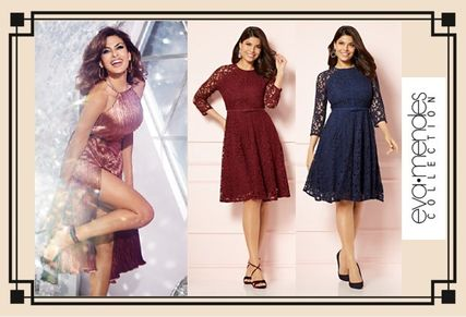 Flared Cropped Party Style Lace Dresses