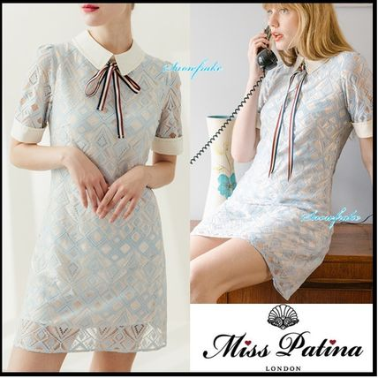 Short A-line Cotton Short Sleeves Dresses