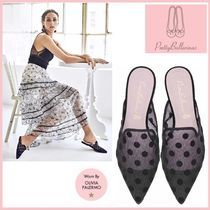 Pretty Ballerinas Dots Party Style Slippers Pointed Toe Shoes