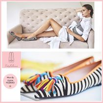 Pretty Ballerinas Zebra Patterns Suede Pointed Toe Shoes