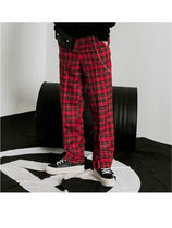 VLADVLADES Printed Pants Tartan Other Check Patterns Unisex