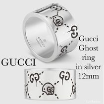 GUCCI Gucci Ghost Costume Jewelry Casual Style Unisex Silver Rings