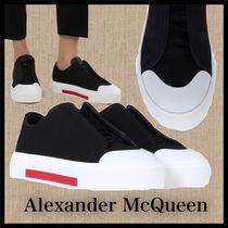 alexander mcqueen Round Toe Casual Style Plain Low-Top Sneakers