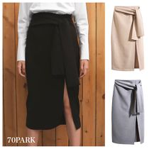 Pencil Skirts Plain Medium Midi Elegant Style Midi Skirts