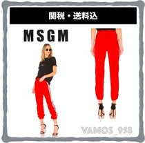 MSGM Casual Style Street Style Cotton Skinny Pants