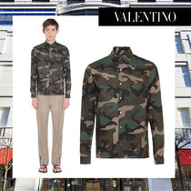 VALENTINO Camouflage Long Sleeves Shirts