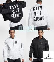 Nike AIR JORDAN Street Style Collaboration MA-1 Bomber Jackets
