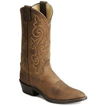 Justin Boots Plain Toe Leather Boots