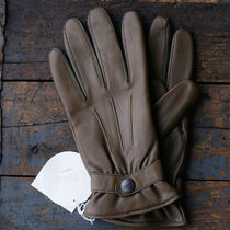 Chloe Street Style Plain Leather Leather & Faux Leather Gloves