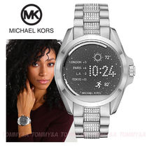 Michael Kors Casual Style Round Stainless Digital Watches