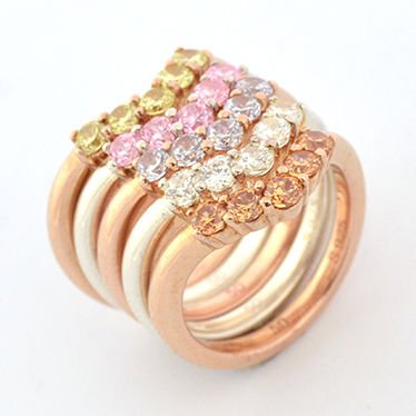 Party Style With Jewels Rings