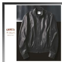EMMETI Short Plain Leather Biker Jackets