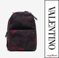 VALENTINO Camouflage Backpacks