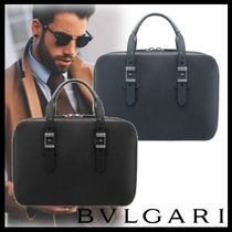 Bvlgari 2WAY Plain Leather Business & Briefcases