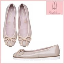 Pretty Ballerinas Platform Round Toe Casual Style Enamel Plain Lace-Up Shoes