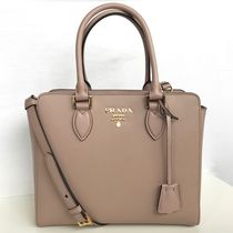 PRADA SAFFIANO LUX 2WAY Plain Leather Elegant Style Totes
