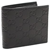 GUCCI Monogram Leather Folding Wallets AVEL 365467