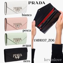 PRADA Calfskin Plain Long Wallets
