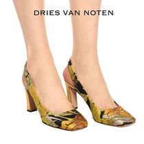 Dries Van Noten Square Toe Elegant Style High Heel Pumps & Mules