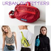 Urban Outfitters Casual Style Unisex Nylon Street Style Plain Khaki Hip Packs