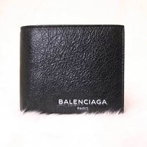 BALENCIAGA Lambskin Plain Folding Wallets