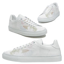 Joshua Sanders Round Toe Casual Style Leather Low-Top Sneakers