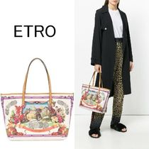 ETRO Casual Style 2WAY Other Animal Patterns PVC Clothing Totes