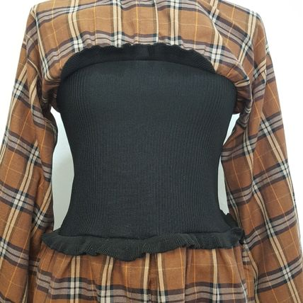 Shirts & Blouses Gingham Other Check Patterns Casual Style Blended Fabrics 20