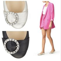 Jimmy Choo Round Toe With Jewels Ballet Shoes