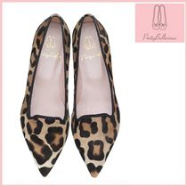 Pretty Ballerinas Casual Style Other Animal Patterns Pointed Toe Shoes