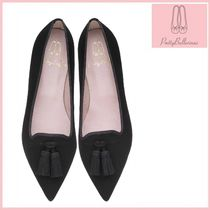Pretty Ballerinas Casual Style Suede Plain Pointed Toe Shoes