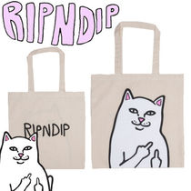RIPNDIP Unisex Canvas Street Style A4 Plain Other Animal Patterns
