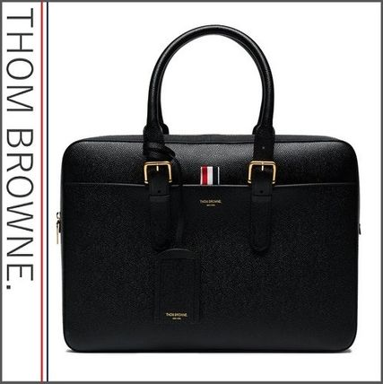 Stripes Plain Leather Business & Briefcases